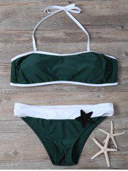Sequined Color Block Bikini Set