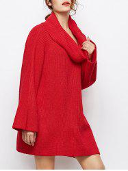 Oversized Chunky Cowl Neck Sweater