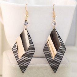 Hollow Out Rhombus Hook Earrings