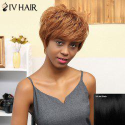 Siv Hair Layered Shaggy Straight Short Pixie Human Hair Wig