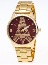 Eiffel Tower Analog Quartz Watch - BROWN