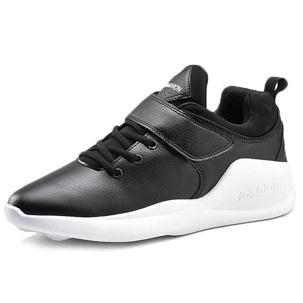 New PU Leather Tie Up Athletic Shoes