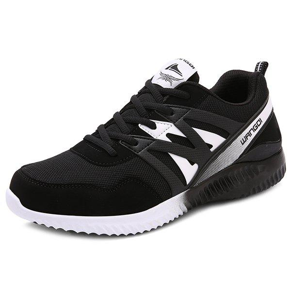 Chic Mesh Color Block Athletic Shoes
