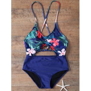 Cami Cut Out Floral One-Piece Swimwear