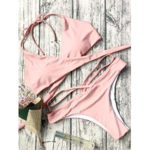 Halter Neck Strappy Wrap Bikini Set