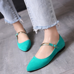 Pointed Toe Strappy Flat Shoes -