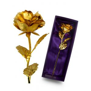 1PCS Gold Plated Rose Flower Birthday Gift - Golden - W24 Inch * L71 Inch