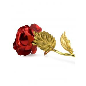 1PCS Gold Plated Rose Flower Birthday Gift - RED