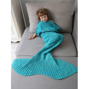 Spiral Algae Shape Crochet Knit Mermaid Blanket Throw For Kids