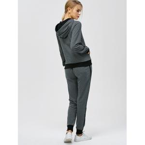 Criss-Cross Hooded Sweat Jogging Suit -