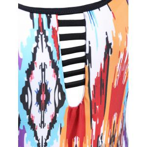 High Neck Tie Dyed Swimwear - COLORMIX L