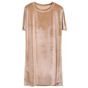 Shift Velvet Short T Shirt Casual Dress