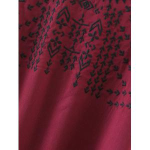 Embroidered Back Tie Blouse -