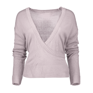 V Neck Surplice lâche Sweater -