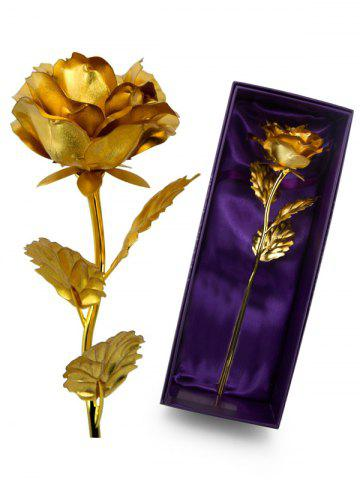Shop 1PCS Gold Plated Rose Flower Birthday Gift