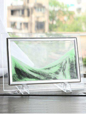 Light Green 17 X 13cm 3d Hourglass Sand Moving Scene Frame Picture ...