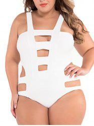 Plus Size Cut Out One Piece Swimwear