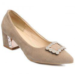 Rhinestones Pointed Toe Pumps
