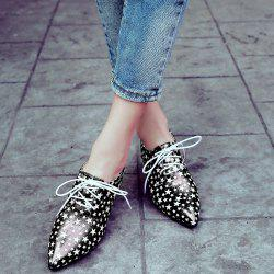 Chunky Heel Star Pattern Pumps