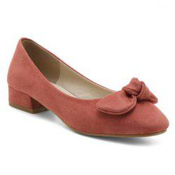 Suede Square Toe Flat Shoes