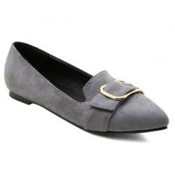 Buckled Suede Flats