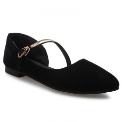 Pointed Toe Strappy Flat Shoes