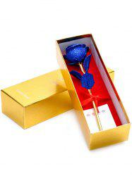 Wedding Decor Gold Plated Rose Flower with Gift Box