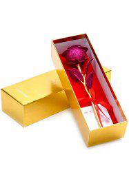 Wedding Decor Gold Plated Rose Flower with Gift Box -