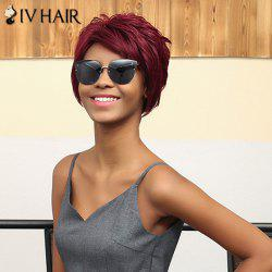 Siv Hair Short Oblique Bang Straight Human Hair Wig