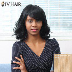 Siv Hair Medium Side Bang Shaggy Wavy Bob Human Hair Wig