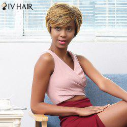 Siv Hair Short Shaggy Straight Pixie Human Hair Wig
