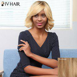 Siv Hair Medium Side Bang Fluffy Curly Bob Human Hair Wig