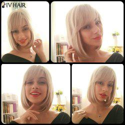 Siv Hair Inclined Bang Bob Silky Straight Short Human Hair Wig
