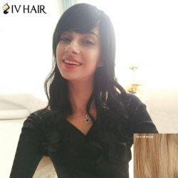 Siv Hair Long Wavy Inclined Bang Fluffy Human Hair Wig