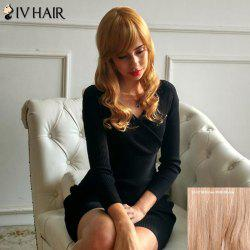 Siv Hair Shaggy Long Oblique Bang Wavy Human Hair Wig