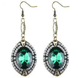 Faux Emerald Drop Earrings