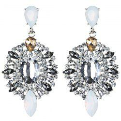 Faux Gem Rhinestone Statement Drop Earrings
