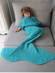 Spiral Algae Shape Crochet Knit Mermaid Blanket Throw For Kids -