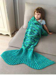Creek Striped Crochet Knit Mermaid Blanket Throw For Kids