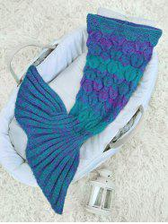 Woolen Yarn Crochet Knit Mermaid Blanket Throw For Baby -