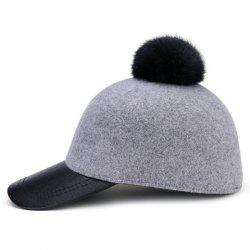 Felt Newsboy Cap with Pom Ball