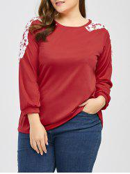Plus Size Bowknot Decorated Floral T-Shirt