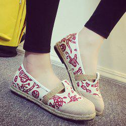 Round Toe Espadrilles Flat Shoes