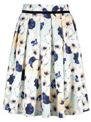 A-Line Floral High Waisted Skirt -