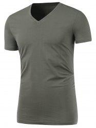 Slim Fit V Neck Short Sleeve Tee