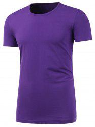 Short Sleeve Plain Round Neck T Shirt