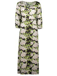 Button Up Printed Maxi Dress