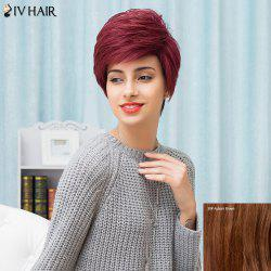 Siv Hair Short Layered Straight Side Bang Pixie Human Hair Wig