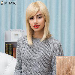 Siv Hair Medium Inclined Bang Silky Straight Human Hair Wig