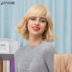 Siv Hair Short Oblique Bang Shaggy Curly Human Hair Wig
